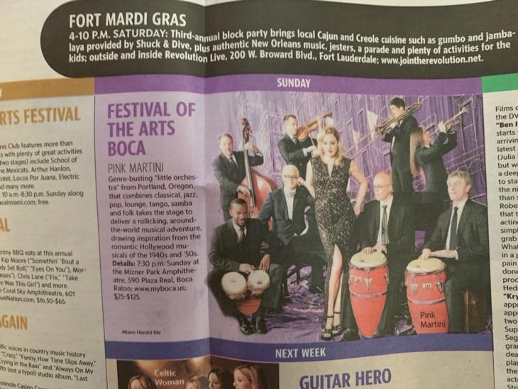 Miami Herald - Festival Boca